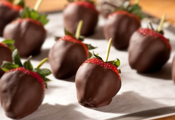 Chocolate dipped strawberries at First Choice Catering